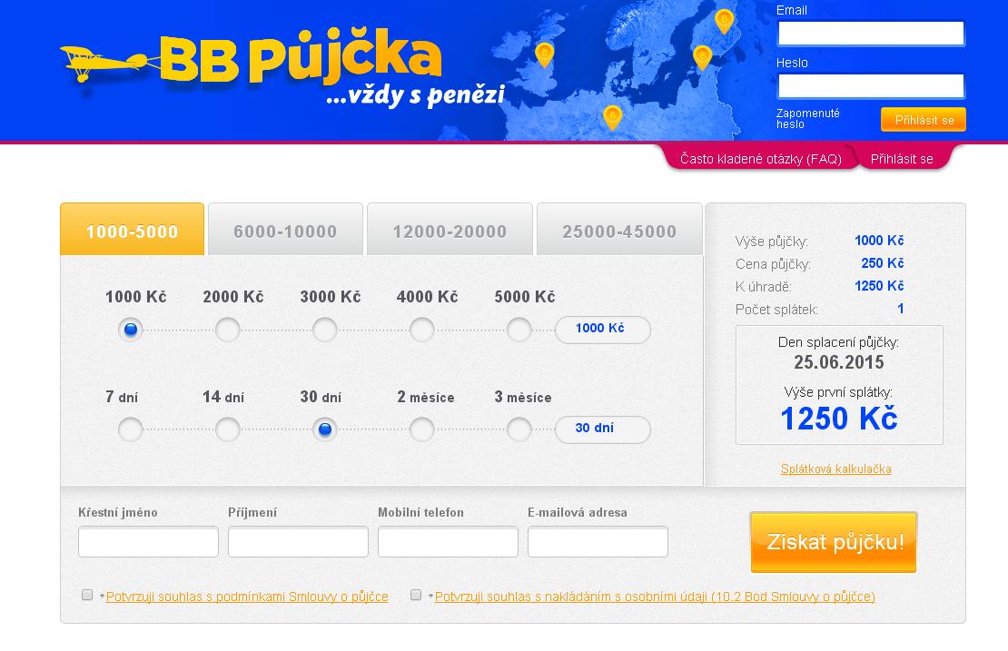 BB půjčka - rychlá půjčka online